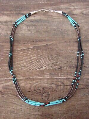 Santo Domingo 3 Strand Turquoise Heishi Necklace - Esquipula Tenorio