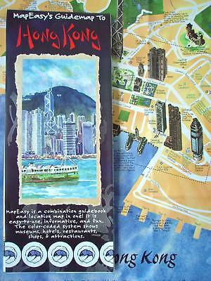 NEW~MAP OF HONG KONG~MapEZ Guide~Rip-Proof,w/Detail Maps of Hong Kong,Kowloon++