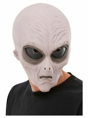 Men's Alien Fancy Dress Mask Men In Black UFO Roswell Area 57 Stag Theme Fun - Alien Themen Kostüm