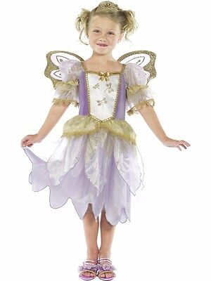 Kinderkostüm Feenprinzessin Fee Kinder Kostüm Kleid Elfe Mädchen lila Smiffys