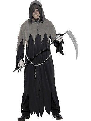 Kostüm Grim Reaper Todeskostüm Fasching tod Geist Gespenst Zombie Karneval (Kostüm Grim Reaper)