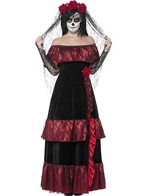 Adult Sexy Day Of The Dead Dead Ghost Bride Costume  - Bride Of The Dead Costume