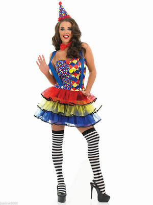 Adult Ladies Cutie Circus Clown Costume - Womens Sexy Halloween Fancy Dress (Circus Costume Womens)