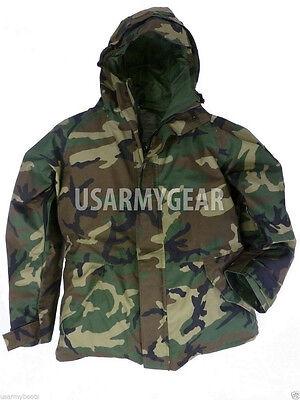 Woodland Nylon Parka - New US Army Cold Wet Weather Gen 1 ECWCS Woodland Goretex Parka Jacket S M L XL