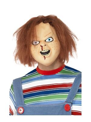 Chucky Childs Play Mask Scary Horror Halloween Fancy Dress Costume Official  - Chucky Costumes For Men