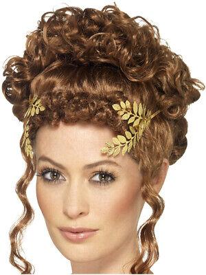 Womens Roman Golden Laurel Leaf Hair Headband Costume Accessory](Roman Headband)