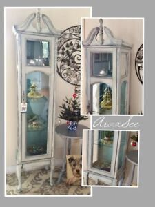 French provincial curio cabinet