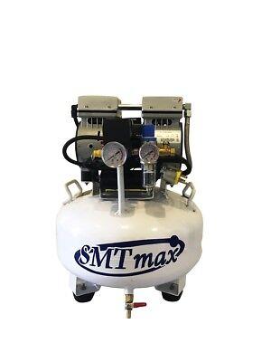 New 34hp 6 Gallon Ultra Quiet Medical Dental Oil Free Air Compressor 110v