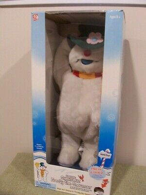 New in Box Gemmy Frosty the Snowman Snowflake Spinning With Legs