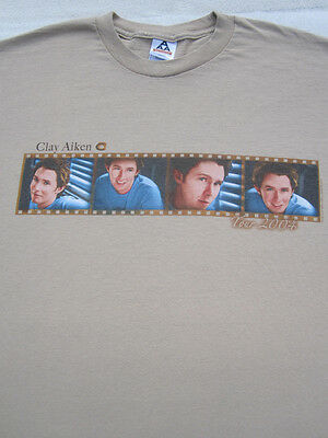CLAY AIKEN 2004 tour XL concert T-SHIRT
