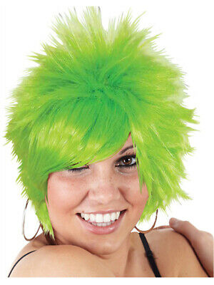 Child Green Short Spiked Punk Mod Pixie St Patricks Day Costume Wig - Baby Punk Costume