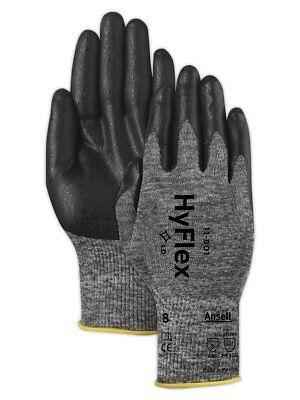 3 6 12 24 Pair Ansell Hyflex 11-801 Foam Nitrile Coating Glove Size 10 11