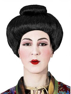 Geisha Perücke schwarz Karneval Japanerin Fasching Haar