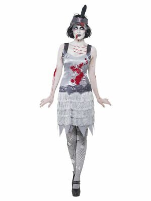 SMIFFY 23213 Zombie Flapper Kleid Charleston 20er Horror Karneval Damen Kostüm