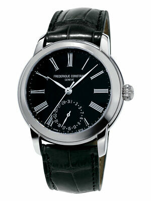 Frederique Constant Men's FC-710MB4H6 Automatic Black Leather Strap 42mm Watch