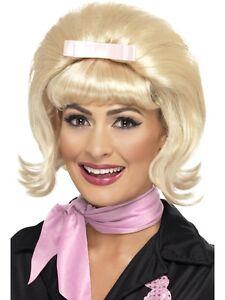 Short Flicked Beehive Bob Wig 50s 60s Bopper Rock n Roll Ladies Fancy Dress