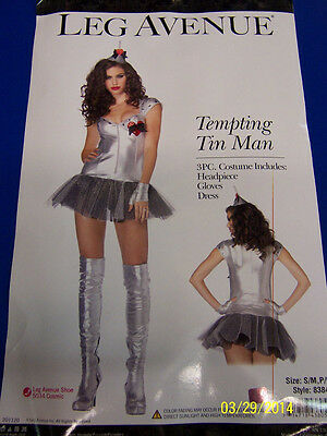 Tempting Tins (3 pc. Tempting Tin Man Wizard of Oz Fancy Dress Up Halloween Sexy Adult Costume )