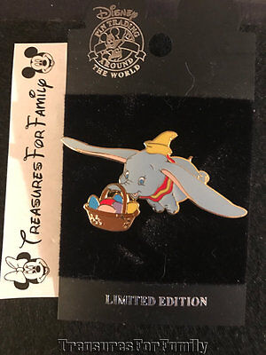 Disney LE Pin Easter 2003 Flying Dumbo with Easter Egg Basket NEW FREE SHIP