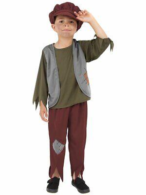 Smiffys Victorian Poor Boy Orphan Peasant Childrens Halloween Costume 38660 - Peasant Boy Costume