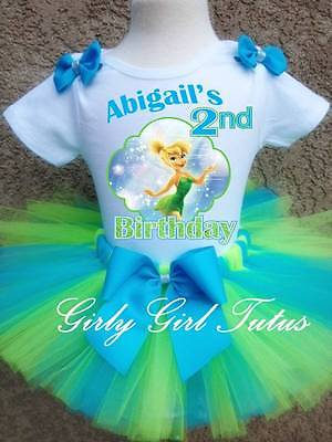 Tinkerbell 1st Birthday (Baby Girl Tinkerbell 1st and 2nd Birthday Tutu Outfit Party Dress)