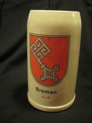 Bremen Germany 1 Liter Stoneware Beer Stein / Mug