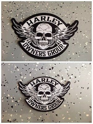 Harley Owners Group Large   Small Skull Patch   Ships International
