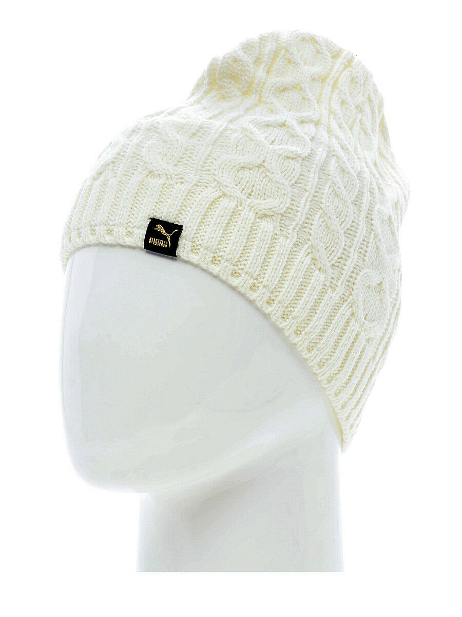 7222217be Details about PUMA Mens Mele Cable Knit Beanie Hat Fleece Lined Winter Hats  CLEARANCE SALE