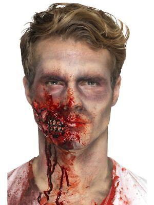 SMI - Latex Zombie Kiefer mit Klebemittel Halloween Kostüm - Latex Zombie Kostüm