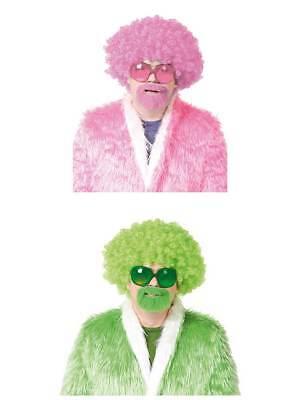 Perücke Partyperücke Perückenset Super Afro mit Bart und Brille Lockenkopf ()