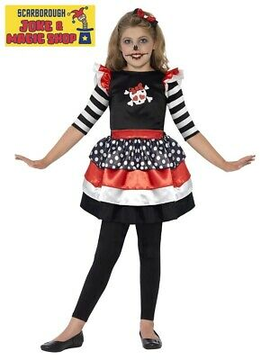 Skully Girl Costume ~ Kids Size Candy Skull Halloween Outfit ~ Ages 3-9 - Candy Skulls Kostüm