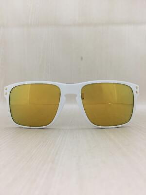 Oakley Holbrook Herren Sonnenbrille OO9102-18 Rahmen: Weiß Linse :y Gelb Rank :