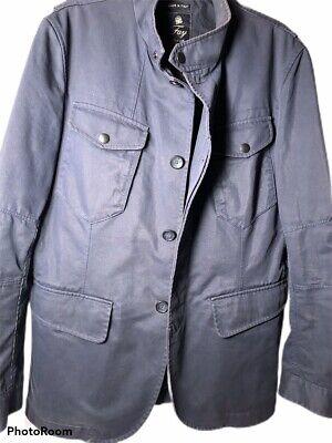 Fay Mens Italian Jacket Peacoat, Navy Blue, Classy, Light Coat, Size XXL