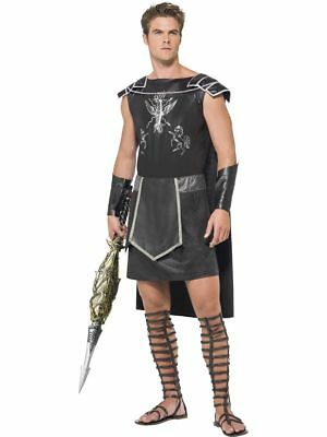 Men's Dark Warrior Gladiator Fancy Dress Costume Stag Do Russell Crowe Film - Russell Kostüm