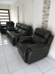 Quality Recliner Leather Lounge - PRICED TO SELL QUICKLY