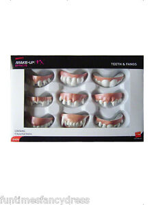 Halloween-Horror-9-Pairs-Of-Assorted-Fancy-Dress-Joke-Teeth-Fangs-FX-Teeth