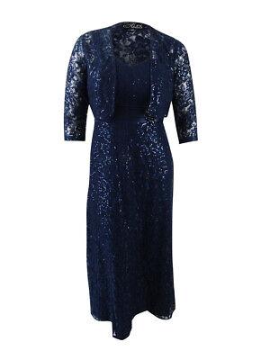 Alex Evenings Women's Lace A-Line Gown & Bolero Jacket (6, (Alex Evenings Sequin Lace Bolero Jacket Dress)