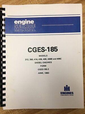 International Td15c Dozer Engine Service Manual Dt466b Ih Dresser