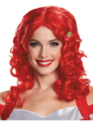 Costume Red Wig (Strawberry Shortcake Deluxe Adult Red Wig Womens Costume)