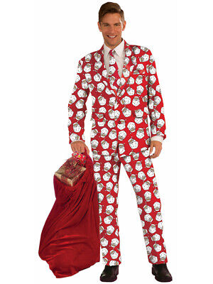 Adults Men's Christmas Holiday Novelty Santa Formal Suit Costume - Santa Costumes For Men