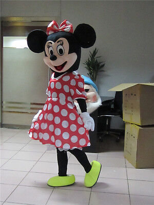 Minnie Mouse Halloween Costume For Adults (Halloween Minnie Mouse Mascot Costume Birthday Party Fancy Dress Adults)