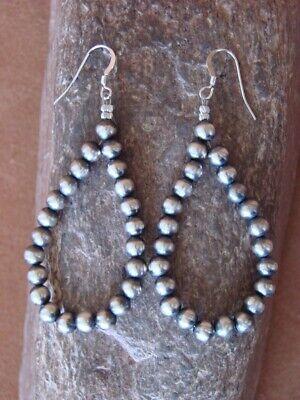 Navajo Indian Hand Beaded Desert Pearl Earrings by Yazzie