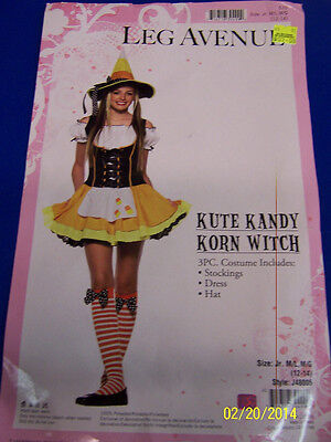 3 pc. Kute Kandy Korn Witch Candy Corn Cute Fancy Dress Halloween Teen Costume ()