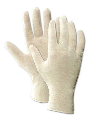 Magid Touchmaster Lisle Cotton White 10.5 Inch Inspection Gloves 12 Pairs