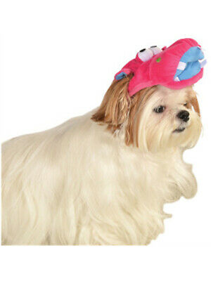 Soft Plush Pink Cartoon Hippo Headpiece Hat For Pet - Dog Hippo Costume