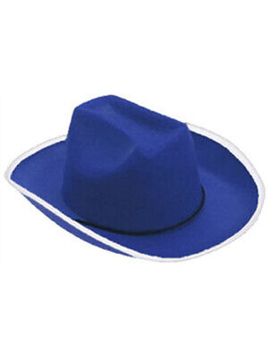 Dark Royal Blue Cowboy Cow Boy Felt Costume Party Hat - Cowboy Boy Costume
