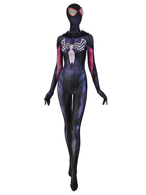 Venom Spidergirl Gwenom Costume Spandex Spiderman Cosplay Suit For Adult/Kids](Black Suit Spiderman Costume)
