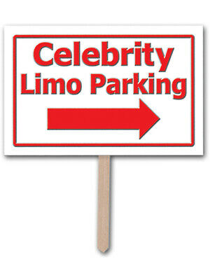 Awards Night Hollywood Celebrity Limo Parking Plastic Yard Sign Decoration
