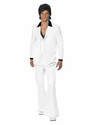 Men's 1970's Saturday Night Fever John Travolta Fancy Dress Costume Stag Disco  - John Travolta Costume