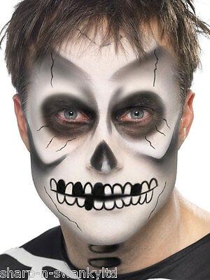 Halloween Skelett Spezialeffekte Make-Up Gesichtsbemalung Kostüm Set ()