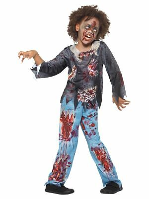 Baby Zombie Costumes For Halloween (Boys Zombie Costume Horror Party Top & Trousers Fancy Dress for Child Halloween)